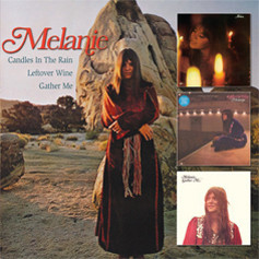 Melanie - Candles In The Train/Leftover Wine/Gather Me (3 LP's op 2 CD's)
